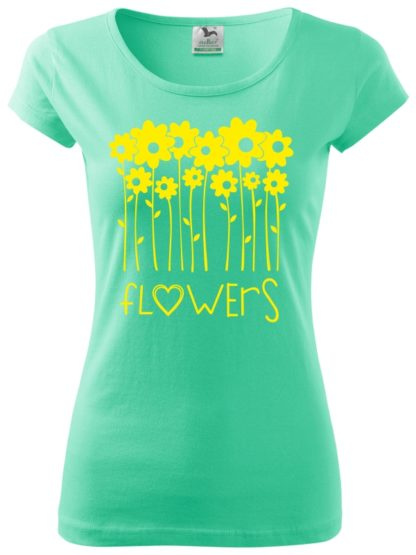 Dámske tričko milujem kvety - mäta
