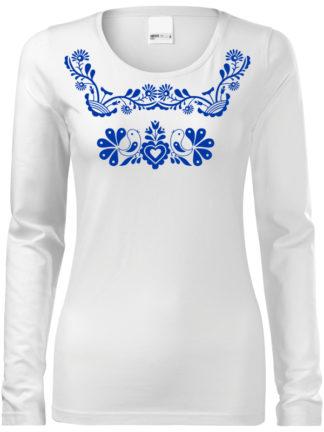 Dámske tričko Slovenské ornamenty - dlhý rukáv