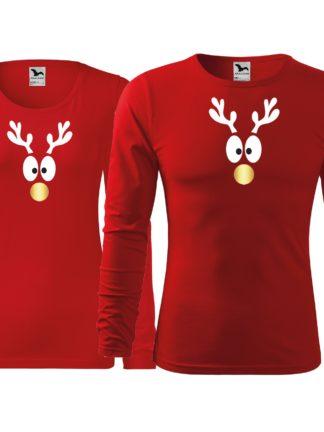 Vánoční tričko I. - červené
